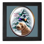 schnoodle christmas keepsake box holds your momentos or jewelry