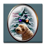 schnoodle lovers christmas gifts art tile coaster