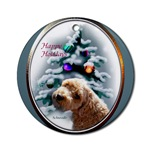 schnoodle christmas ornaments in either the round ornament or the oval ornament