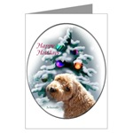schnoodle christmas cards are offered in single card or packs or 10 or 20