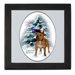 staffordshire bull terrier christmas keepsake box, great gifts