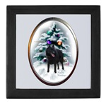 schipperke christmas keepsake box holds momentos or jewelry, christmas gifts to treasure