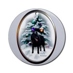 schipperke christmas ornaments, round art ornament