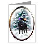 schipperke christmas cards, in single card or multi packs