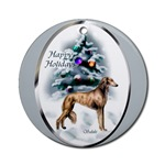 Saluki Christmas ornament will be a favorite on your tree, or use as a gifts topper