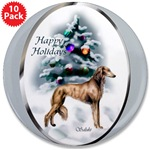 Great stocking stuffers, our saluki Christmas buttons are lovely.
