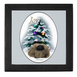 pekingese christmas keepsake art tile box, gift ideas they will cherish