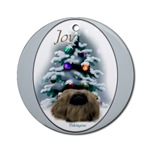 pekingese christmas ornaments, round ornament