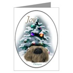 pekingese christmas cards in single card or multi packs