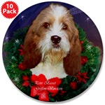Beautiful Petit Basset Griffon Vendeen art gifts. Our buttons are great stocking stuffers for PBGV fans.