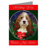 Petit Basset Griffon Vendeen Christmas cards are a wonderful way to wish Peace, Joy, and Love to family and friends