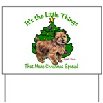 Norfolk Terrier is featured in this fun holiday yard sign