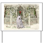 Samoyed Christmas yard sign