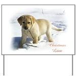 Decorative Christmas yard sign for labrador lovers