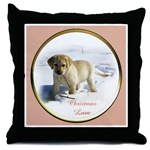 add a touch of beauty to your holiday decorating with our Labrador Retriever Christmas throw pillow