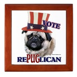 Pug keepsake box, fun merchandise to give as a gift for any occasion