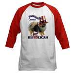These fun political humor shirts have a pomeranian running for office, vote RePOMlican!