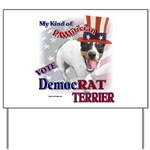 Rat Terrier yard sign to decorate your lawn or garden.
