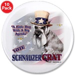 Miniature Schnauzer gifts, posters, buttons, magnets, prints, mugs, coasters, more