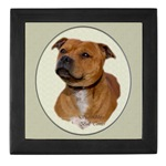 staffordshire bull terrier art keepsake box is just one of several great gifts for staffie lovers