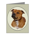 staffordshire bull terrier art greeting cards and note cards, to send that extra special greeting
