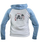 owned by a shih tzu womens  raglan hoodie