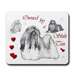 shih tzu lovers mousepad