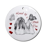 shih tzu ornament, just one of many great gifts for lovers of this remarkable dog breed