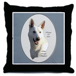 add a touch of class with a throw pillow that has our white german shepherd art on them