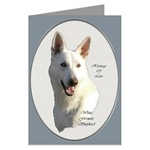 white german shepherd art greeting and note cards in single card or multi packs