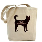 Canaan dog tote bag, messenger bag, caps, and other accessories