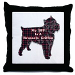 Brussels Griffon lovers decorative art throw pillow, just one of several selections of gift ideas
