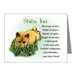 Shiba Inu art greeting and note cards