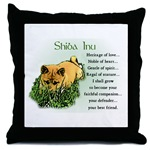 Decorative Shiba Inu art throw pillow