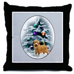 Beautiful Norfolk Terrier Christmas art throw pillow. Lovely gifts.