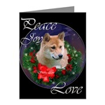 Shiba Inu Christmas cards are a lovely way to wish Peace, Joy, and Love to your family and friends
