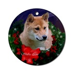 Shiba Inu Christmas ornament will be a favorite on your tree, or use as an elegant gifts topper.