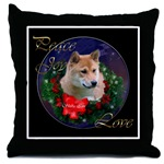 Wonderful shiba inu Christmas art throw pillow to add a touch of beauty to your holiday home decor.
