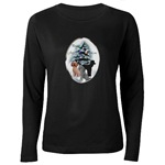 Poodle Christmas art holiday wear for the whole poodle loving family!