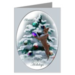 Basenji art Christmas cards are a lovely way to send holiday greetings to loved ones.