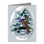 Basenji Christmas note cards in 10 or 20 packs