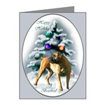 Boerboel Christmas note cards have an image on the inside of card too!