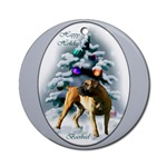 Boerboel Christmas ornaments in round or oval shaped.