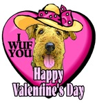 airedale terrier valentines day gifts