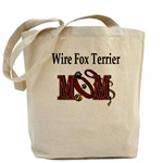wire fox terrier dog mom tote bag, accessories, gifts