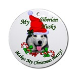 Siberian Husky Christmas ornament will be a favorite on your tree, or use as a gifts topper.