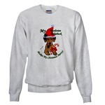 rhodesian ridgeback christmas holiday sweatshirt, apparel in several choices of styles