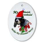Bluetick Coonhound Christmas tree ornaments or use as a gift topper!