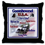 Redbone Coonhound lovers decorative throw pillow, great and unique gifts