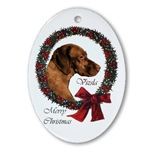 Vizsla Christmas ornament will be a favorite on your tree, or use as an elegant gifts topper.